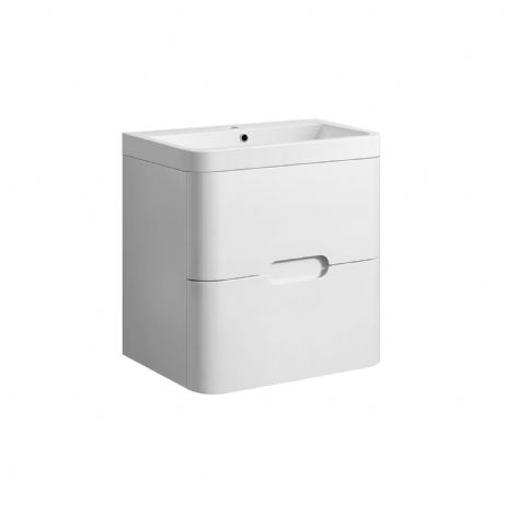 TB Smooth Rounded Two Drawer - Wall Hung